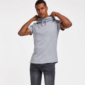 Camiseta algodón con cuello de chimenea