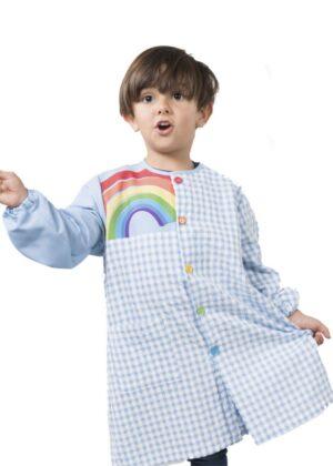 Babi escolar de botones para niño